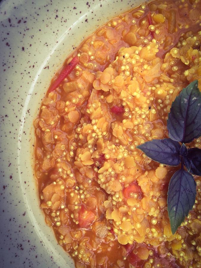 Lentilles Corail au curry & Quinoa Ô Thermomix
