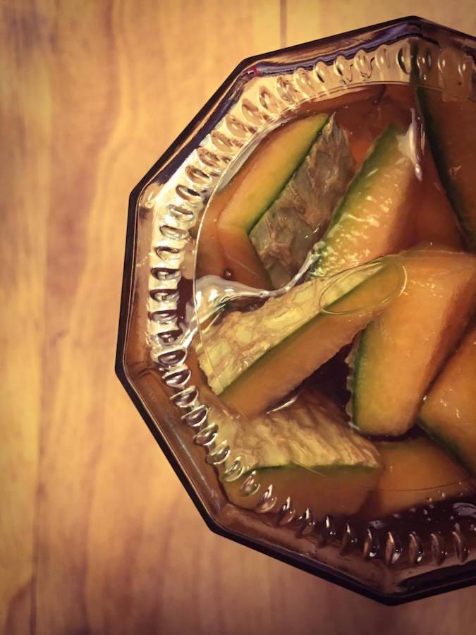 Écorces de Melon  ---->  à l'aigre-doux