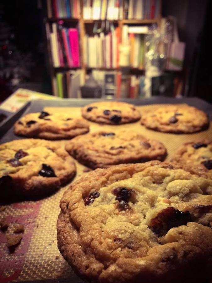 Cookies Chocolat Blanc - Canneberges séchées et Poivre Long Rouge Thermomix