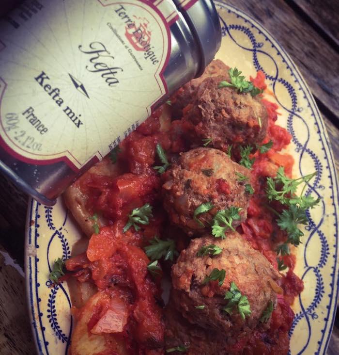 Kefta en gratin pomme de terre, poivron & tomate Ô Thermomix