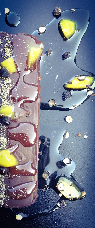 Fondant au chocolat                                         Poivre Noir de Kampot & Gingembre confit