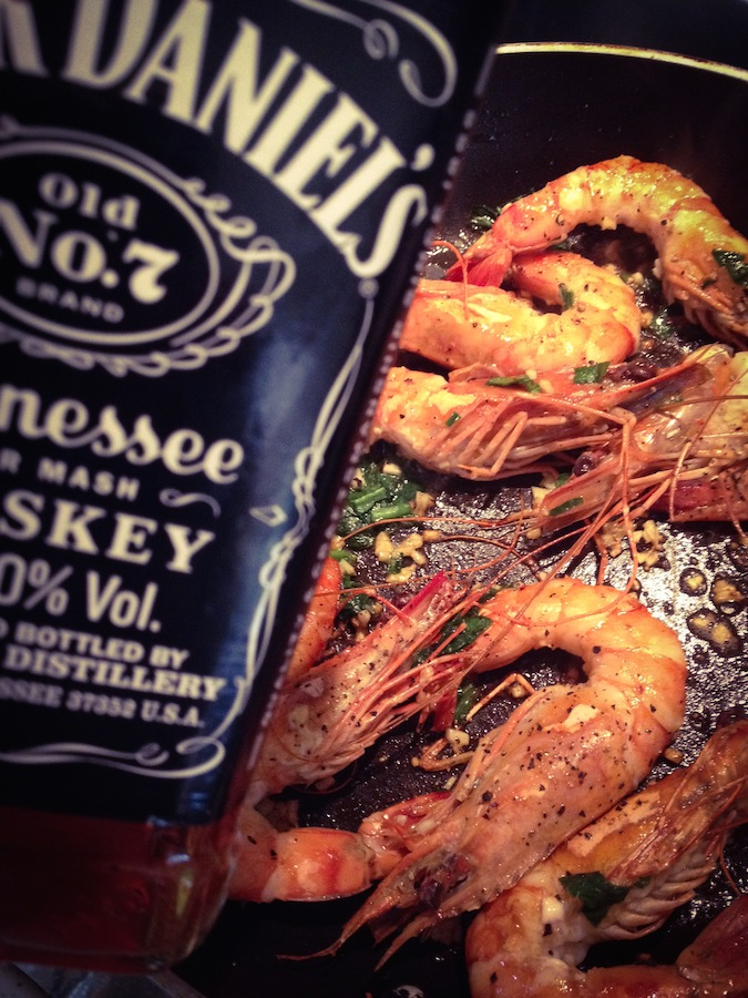 Gambas Ail des Ours & WhiskY